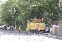 Упало дерево на провода на ул. Оборонной, Фото: 5