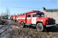 Пожар в цехе производства гробов на Веневском шоссе в Туле, Фото: 5