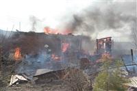 На Калужском шоссе загорелся жилой дом, Фото: 7
