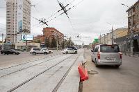 На ул. Советской в Туле убрали дорожные ограждения с трамвайных путей, Фото: 17