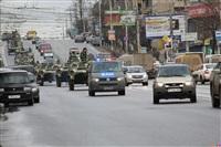 По Туле прошла колонна военной техники, Фото: 1