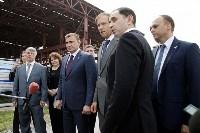В Туле министр промышленности и торговли РФ  осмотрел  стройплощадку ООО «Тулачермет-Сталь», Фото: 5