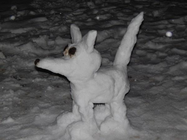 Разбойник из пушистого снега.