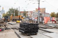 На ул. Советской в Туле убрали дорожные ограждения с трамвайных путей, Фото: 14