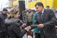 Груздев вручил ключи от социального жилья в Богородицке. 1 апреля 2014, Фото: 7