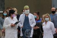 В Туле сотрудники МЧС эвакуировали госпитали госпиталь для больных коронавирусом, Фото: 5