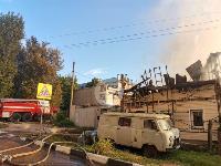 На ул. Баженова в Туле крупный пожар уничтожил жилой дом, Фото: 18