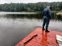 В пруду Центрального парка работала водолазная группа, Фото: 10