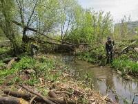 В Туле ведется расчистка Щегловского ручья от мусора, Фото: 1