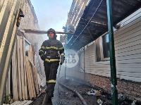 На ул. Баженова в Туле крупный пожар уничтожил жилой дом, Фото: 11