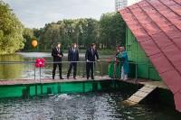 Запуск лебедей в верхний пруд Центрального парка Тулы, Фото: 22