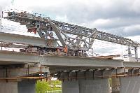 Восточный обвод: Строительство моста через Упу, Фото: 3