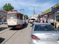 ДТП с участием маршрутки на ул. Оборонной, Фото: 1