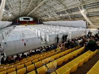 В Туле сотрудники МЧС эвакуировали госпитали госпиталь для больных коронавирусом, Фото: 65