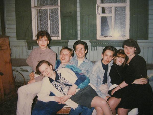 1995 год, студенты Политеха на вечеринке))).