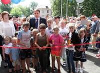 Владимир Груздев на вручении ключей от новых квартир переселенцам в Богородицке, Фото: 8