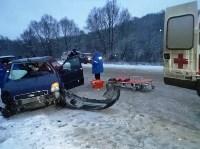 Авария под Алексином днём 12 декабря, Фото: 1