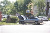 """В Туле водитель """"Пассата"""" въехал в пень, Фото: 3"""