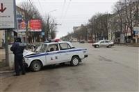 В Туле машина ДПС протаранила столб, Фото: 6