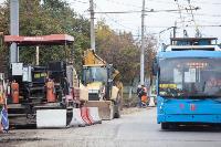 На ул. Советской в Туле убрали дорожные ограждения с трамвайных путей, Фото: 1
