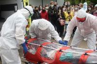 В Туле сотрудники МЧС эвакуировали госпитали госпиталь для больных коронавирусом, Фото: 39