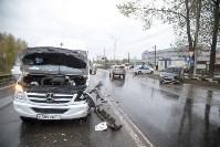 На Рязанском шоссе «Хёндэ» столкнулась с микроавтобусом, Фото: 4
