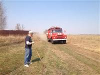 В Ленинском районе из-за горящей травы сгорела дача, Фото: 9