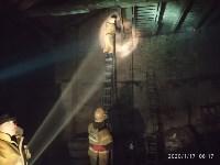 В Ясногорске загорелся склад для хранения зерна, Фото: 1