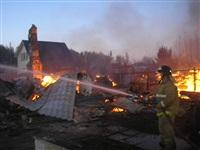 Пожар в Заокском районе, Фото: 2