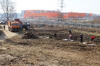 Генеральную уборку в Туле на Пролетарской набережной провели работники КБП, Фото: 27