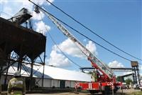 Пожар на хлебоприемном предприятии в Плавске., Фото: 7