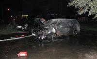 В Пролетарском районе Тулы сожгли иномарку, Фото: 1