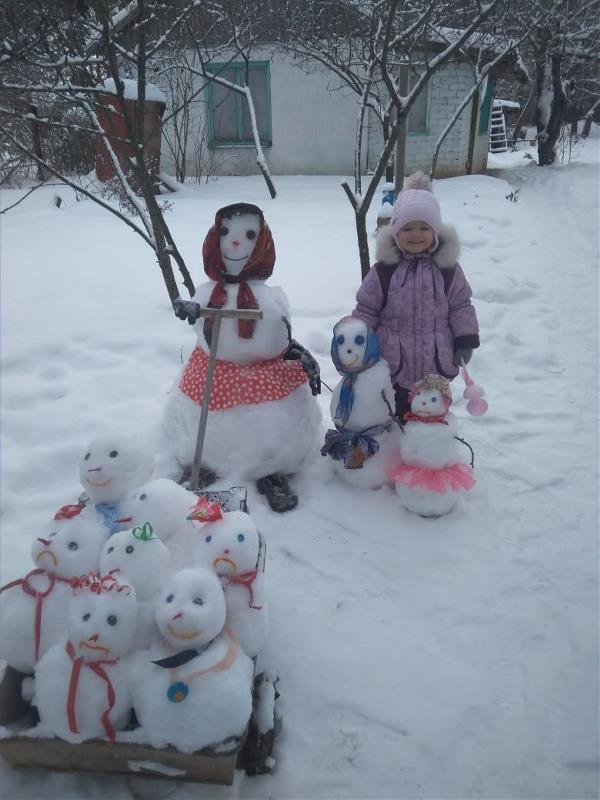 С отличным настроением на зимней, новогодней прогулке