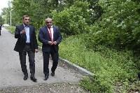 В Ясногорске Алексей Дюмин поручил привести в порядок городской парк, Фото: 21