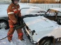 В Щекино спасатели ликвидировали последствия условного ДТП, Фото: 2