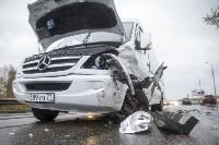 На Рязанском шоссе «Хёндэ» столкнулась с микроавтобусом, Фото: 6