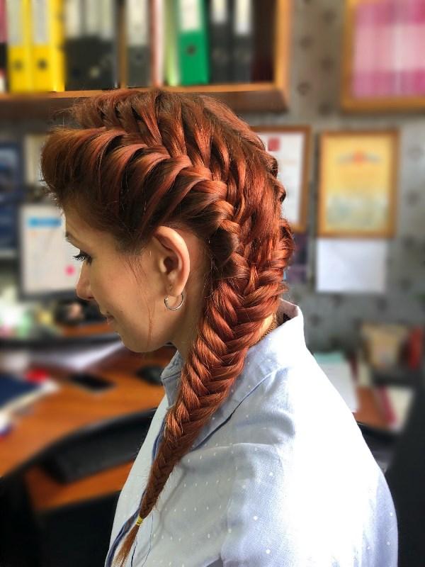Ражеволосая красотка (мое творение -коса)