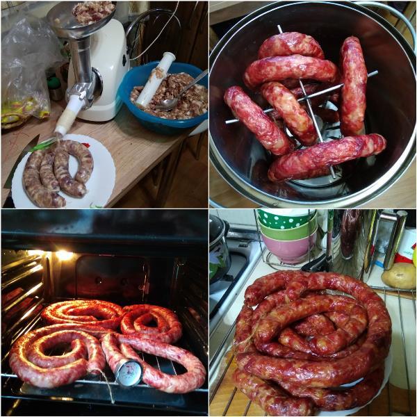 """Одно из последних кулинарных воплощений моего мужа """"Краковская колбаска"""" собственного изготовления. Оооочень вкусно!!!"""