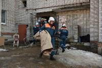 У дома, поврежденного взрывом в Ясногорске, демонтировали опасный угол стены, Фото: 26