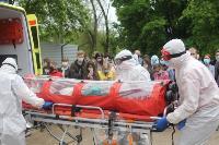 В Туле сотрудники МЧС эвакуировали госпитали госпиталь для больных коронавирусом, Фото: 40