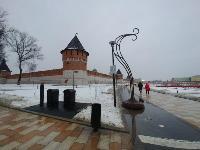 На Казанской набережной впервые в Туле поставили подземную мусорную площадку, Фото: 6