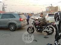 В Туле внедорожник подрезал мотоциклиста, Фото: 7