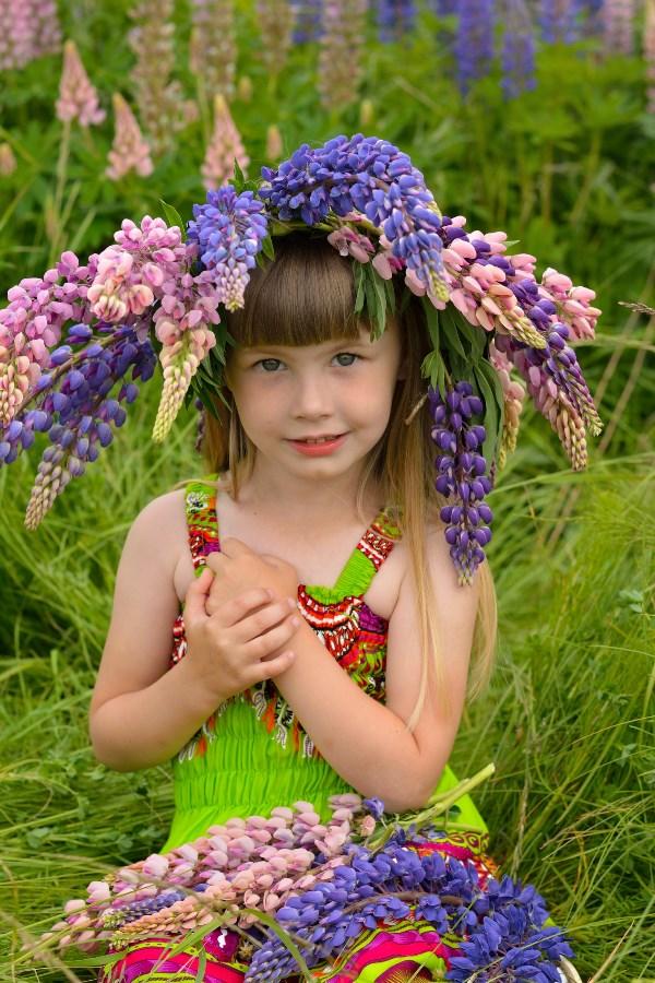 Июньский день, как в детстве длинный длинный, и также ночь волшебно коротка. В России лето, вновь цветут люпины, и верят что достанут облака