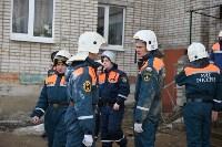У дома, поврежденного взрывом в Ясногорске, демонтировали опасный угол стены, Фото: 9