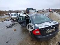 В страшном ДТП под Тулой погибли два человека, Фото: 21