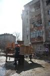 У дома, поврежденного взрывом в Ясногорске, демонтировали опасный угол стены, Фото: 14
