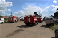 Пожар на хлебоприемном предприятии в Плавске., Фото: 1