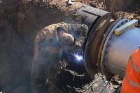 Как ведется монтаж водовода, питающего водой Пролетарский округ Тулы. Фото, Фото: 23