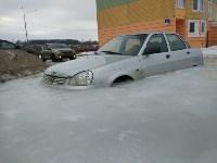 """В Туле вмерзла в лед """"Лада"""", Фото: 1"""