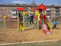 В Тульской области продолжают устанавливать детские площадки, Фото: 5